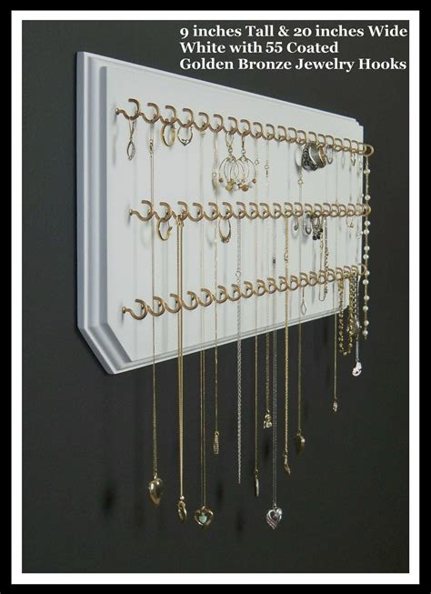 jewelry organizer hanging necklace holder wall by