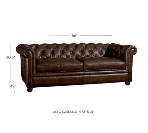 Leather Chesterfield Sofas Chesterfield Leather Sofa Pottery Barn