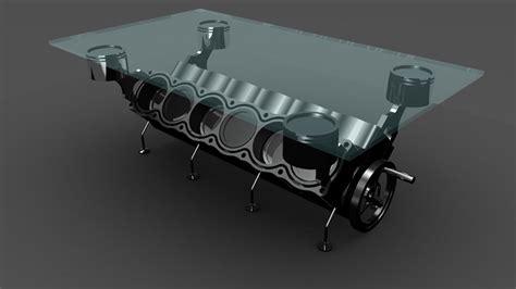 V12 Engine Coffee Table 3d Engine Table V12 Model