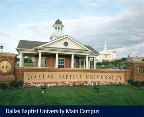 Dallas Baptist Mba Tuition by Dallas Baptist Education Universities