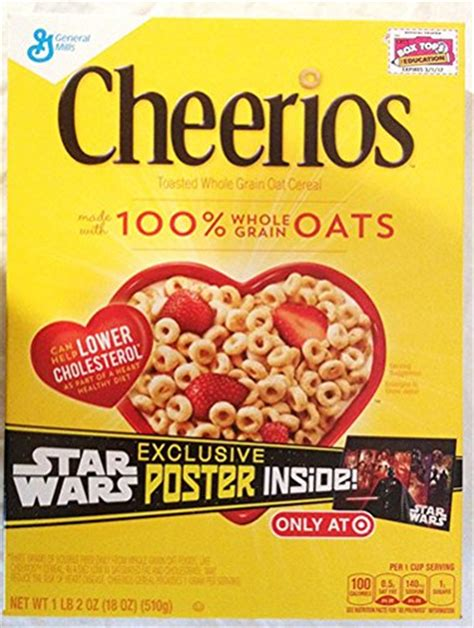 cheerios 4 delicious whole grains cheerios toasted whole grain cereal wars poster