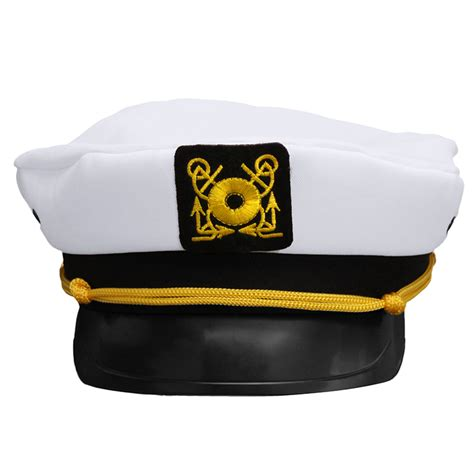 How To Make A Captain Hat Out Of Paper - 2016 new unisex white vintage skipper sailors navy captain