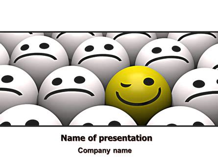 templates powerpoint smile winking smile presentation template for powerpoint and