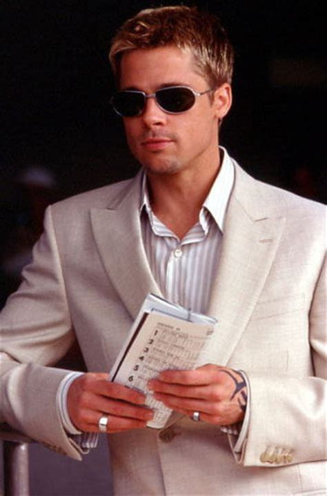 Brad Pitt Oceans Eleven Manliness Trait Never Use Eight Words When Four Will Do
