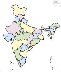 India Outline Map Coloured by India Map Outline With States