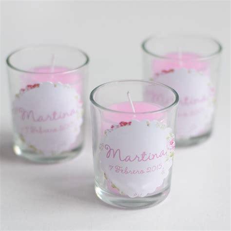discurso para bautizo de una set de 6 velas rosas en vasitos el detalle perfecto para