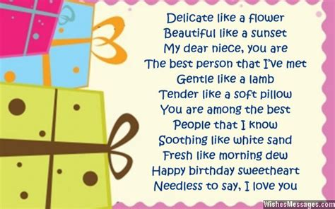 Apology Letter To Niece Birthday Poems For Niece Wishesmessages