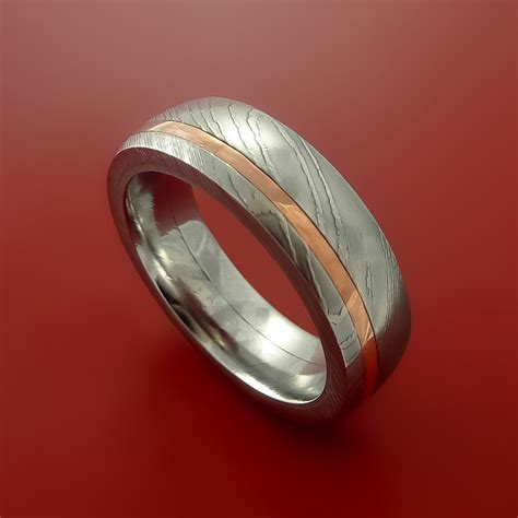 custom metal sts for jewelry damascus steel and copper ring wedding band custom made