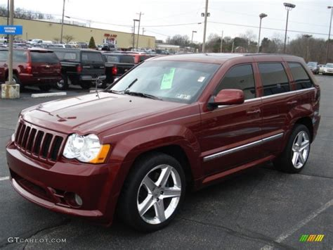 jeep gray color 2008 red rock crystal pearl jeep grand cherokee srt8 4x4