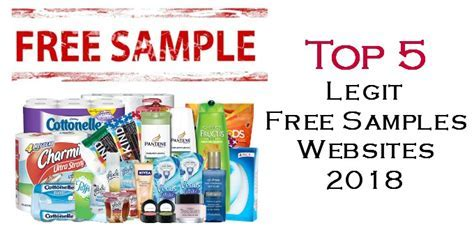 Top 5 Legit Free Samples Websites 2018   Freebie Bin