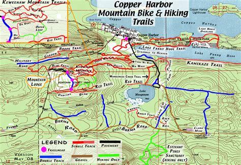 copper trail map michigan bike trails map bike gallery