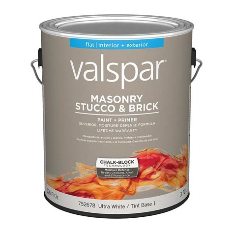 shop valspar masonry stucco and brick flat interior exterior paint actual net contents