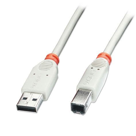 Usb 2 0 Netlink Cable 2m Usb 2 0 Cable Type A To B Grey From Lindy Uk