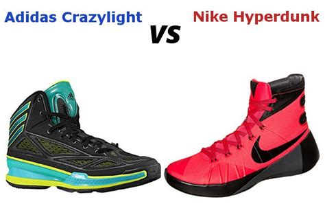 basketball shoes vs running shoes adidas crazylight vs nike hyperdunk review specification