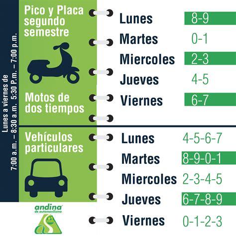 la conejera tiene pico y placa pico y placa carros y motos 2015 2 escuela andina de