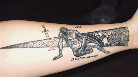 tattoo parlour alexandria the dying gaul forearm piece by jason at sayan tattoo