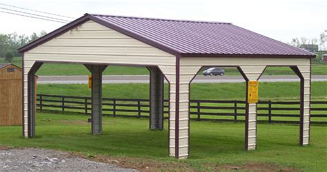 Tin Roof Carport Alan S Factory Outlet Of Storage Sheds Garages And