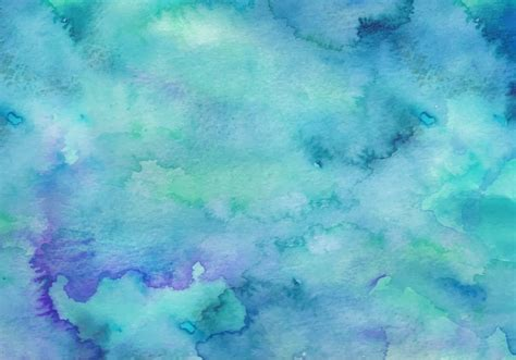 Free vector Teal Free Vector Watercolor Background #12890