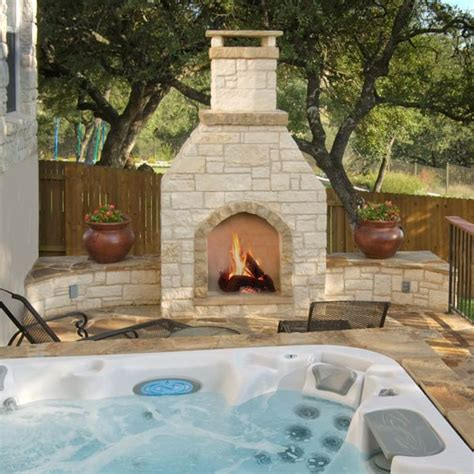 Custom Outdoor Fireplace or Fire Pit Archadeck Outdoor