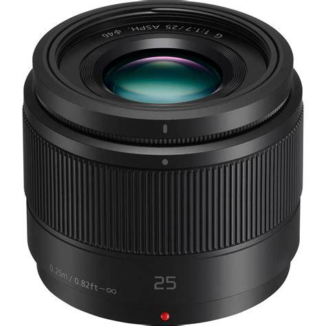panasonic lens panasonic lumix g 25mm f 1 7 asph lens h h025k b h photo