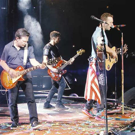 michael j fox coldplay johnny b goode with michael j fox coldplay