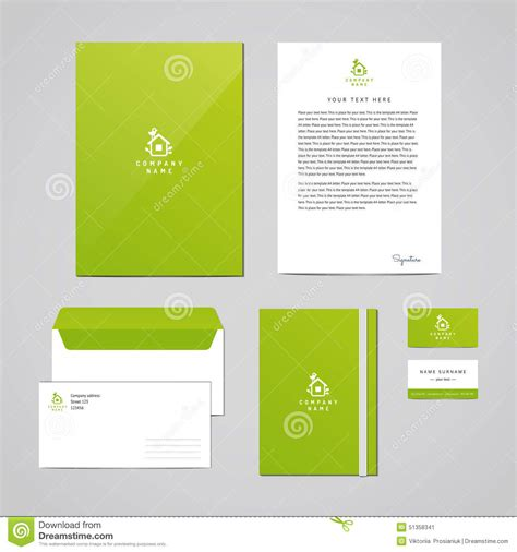 corporate identity eco design template documentation for