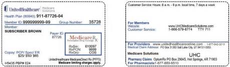 Phone Number For Unitedhealthcare Connected Uhc Member Id Card