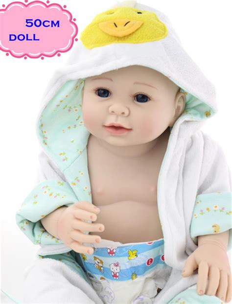 Baby Boy Handmade Clothes - 50cm silicone reborn baby boy dolls with lovely
