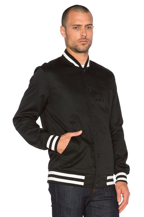 7 Of The Best Varsity Inspired Garments by Lyst Huf Classic H Varsity Jacket In Black For