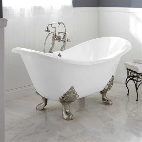 plumbing bathtub arabella cast iron double slipper tub clawfoot tubs