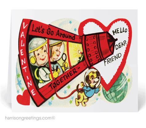 valentines vintage 1950s vintage cards val189 harrison
