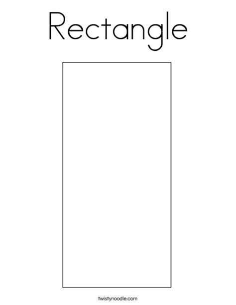 printable rectangle shapes rectangle coloring page twisty noodle