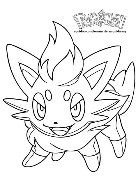 pokemon coloring pages of zorua pokemon zorua coloring sheets coloring pages