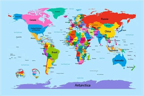 big world map  countries labeled world map