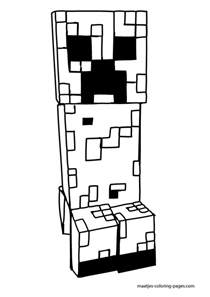 minecraft enderman coloring pages getcoloringpages