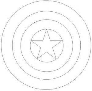 Escudo del capitan america para pintar imagui