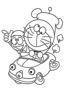 Doraemon In Car Coloring Pages For Kids Printable Free Doraemon Printable Coloring Pages