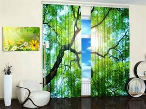 Nature Print Curtains 15 window curtains with colorful prints of beautiful
