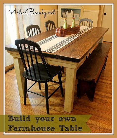 How To Build Your Own Farmhouse Table For Under 100 Diy Build Your Own Kitchen Table