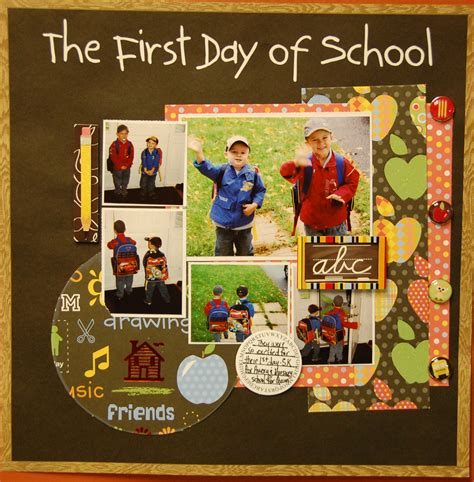 scrapbook layout first day of school layout the first day of school 2010