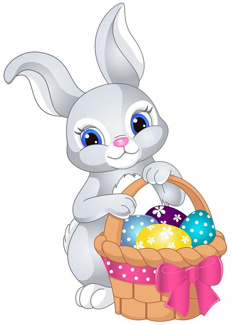 easter bunny clipart unique easter bunny with basket clip image 187 free