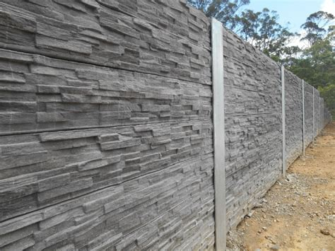 Steel Posts For Sleeper Retaining Wall by Australian Retaining Walls Textured Concrete Sleepers With