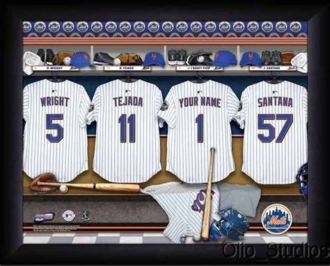 unique gifts for mets fans york mets team locker room personalized print unique