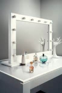Large Makeup Mirror With Lights Uk High Gloss White Make Up Theatre Dressing Room