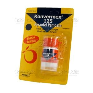 Obat Cacing Konvermex Tablet combantrin 250mg str k24klik