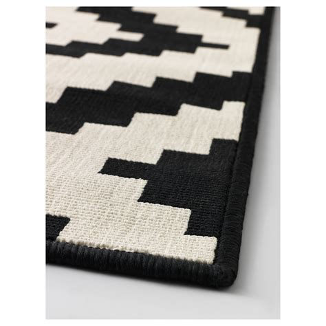 black and white ikea rug lappljung ruta rug low pile white black 200x300 cm ikea