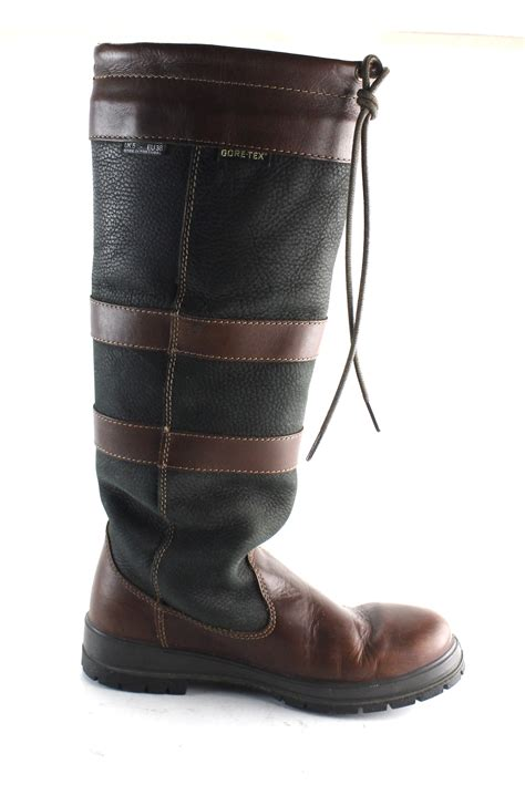 s dubarry black and brown leather mid calf