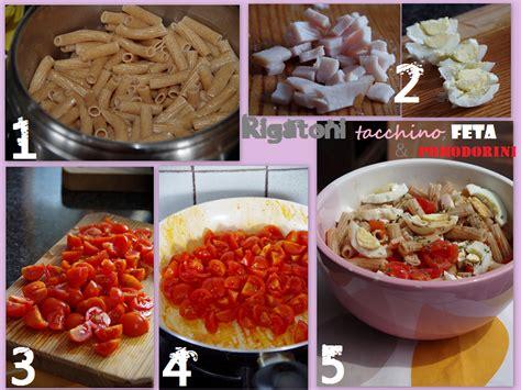 fesa di tacchino come cucinarla rigatoni integrali con tacchino feta e pomodorini per