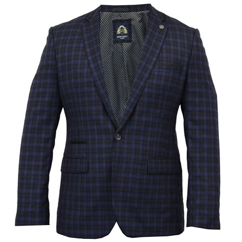 design jacket formal mens blazer marc darcy formal coat tartan check dinner