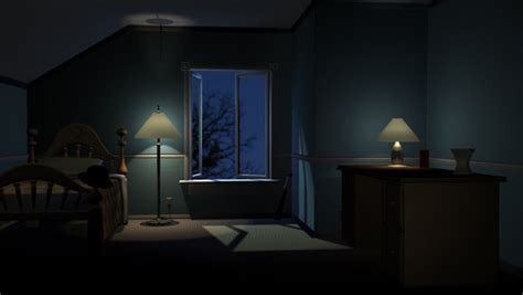 Night Room 3D Lighting by maichii on DeviantArt